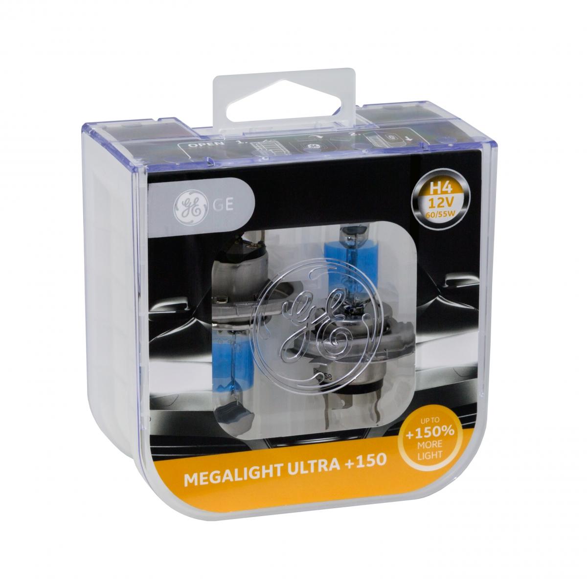 Halogen Headlight Upgrade Bulbs – Megalight Ultra +150